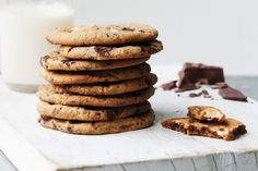 It's hard to resist these fabulous choc-chip cookies with both dark and white chocolate in the mix.