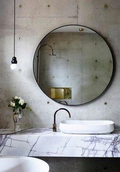 Industrial Bathroom Mirrors, Rustic Bathroom Decor, Bathroom Interior Design, Bathroom Styling, Modern Bathroom, Small Bathroom, Bathroom Designs, Bathroom Storage, Bathroom Ideas