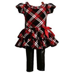 Bonnie Jean Infant Girls Red Plaid Bow Dress « Clothing Impulse