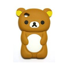 BUKIT CELL 3D Bear Cartoon Soft Silicone Case for IPOD TOUCH 4 4G 4TH... ❤ liked on Polyvore featuring phones