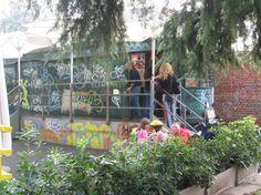 """Il """"Tram bar"""" al parco della Martesana"""