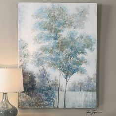 Uttermost Blue Spring Canvas Art