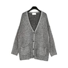 *free ship* Oversized Cardigan from Euphoria ($34) ❤ liked on Polyvore featuring tops, cardigans, sheinside, outerwear and oversized cardigan