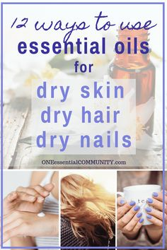 12 natural remedies using essential oils to help moisturize, soothe, and nourish dry skin, hair, and nails Baking Soda Shampoo, Dry Shampoo, Clarifying Shampoo, Young Living, Homemade Face Wash, Oil For Dry Skin, Natural Beauty Recipes, Beauty Tips, Beauty Ideas
