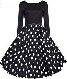 Classy Audrey Hepburn 1950s Vintage Rockabilly Swing Dress