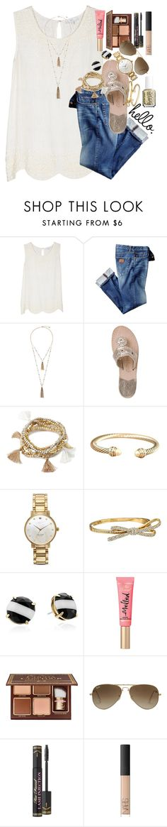 """""""tomorrow is another chance"""" by thefashionbyem ❤ liked on Polyvore featuring Joie, Eloquii, Jack Rogers, Forever 21, David Yurman, Kate Spade, Too Faced Cosmetics, Ray-Ban, NARS Cosmetics and Essie"""