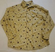 Roundtree & York Men's Outdoors Fishing Lures Hooks Hawaiian Shirt XL Tall #165 in Clothing, Shoes & Accessories, Men's Clothing, Casual Shirts | eBay