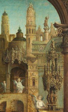 Jan Gossaert. Detail from The Holy Family, 1508.