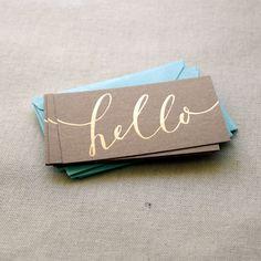 Little hello mini cards $12