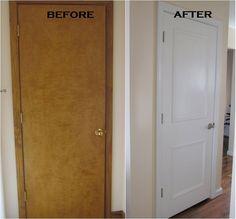 home upgrades that add value builder grade ~ home upgrades that add value Home Upgrades, Tall Cabinet Storage, Locker Storage, Cabinet Doors, Diy Casa, Panel Doors, Oak Doors, Wooden Doors, Trim On Doors