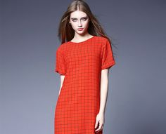Fashion Lattice Short Sleeve Round Collar Red Color One-Piece Dress http://www.fashion-wholesaler.com/dresses-c-10200/fashion-lattice-short-sleeve-round-collar-red-color-onepiece-dress-p-2320.html