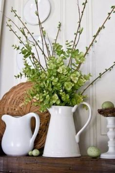 Rustic farmhouse decor is beautiful in any season, but it is especially spectacular in spring! If you are looking for ideas to add farmhouse spring decor to your home, here is inspiration that you don't want to miss – for… Continue Reading → Spring Home Decor, Diy Home Decor, Spring Kitchen Decor, Summer Decoration, Spring Decorations, Summer Mantle Decor, Green Decoration, House Decorations, Christmas Decorations