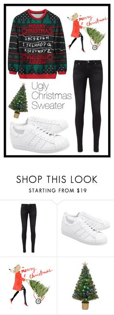 """""""#589 ugly Christmas sweater"""" by xjet1998x ❤ liked on Polyvore featuring AG Adriano Goldschmied, adidas Originals and Merske"""