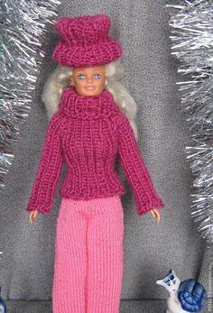 Tricoter poupée Ken chandail, tildochek, intérieur et textiles poupées - Maîtres équitable - à la main, fait main