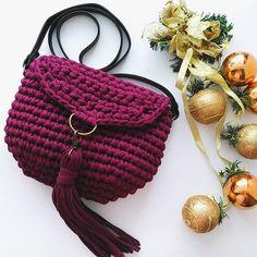 Сумочка выполнена на заказ. Какой же красивый цвет марсала #вязанаясумка #вязанаясумкауфа #сумка #сумкауфа #уфа