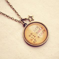"""Antique Bronze """"We are all Made of Stars"""" Necklace"""