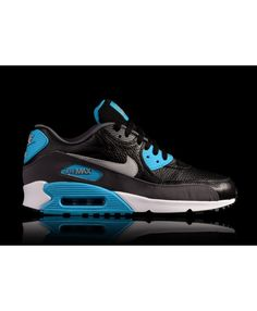 timeless design ce7b1 89eed Nike Air Max 90 Leather Black Grey Blue Deals