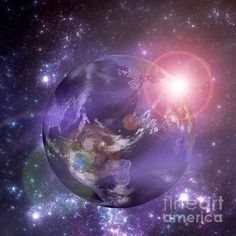 Planet Earth With The Rising Sun #earth #science #nasa #sun #space #galaxy #planet #universe #art #star #night