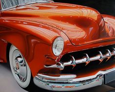 Hyper Realistic Muscle Cars Paintings