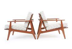 Parker Lowback Armchairs - Mr. Bigglesworthy Designer Vintage Furniture Gallery