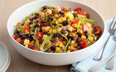 Black Bean and Corn Salad by Guy Fieri (Bean, Peppers, Sweetcorn) @FoodNetwork_UK
