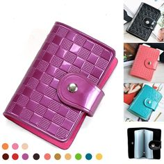 2016 New Fashion OL Style Women Men ID Card Holder 11 Colors Card Wallet Purse Credit Card Business Card Holder Organizer DC63 #jewelry, #women, #men, #hats, #watches