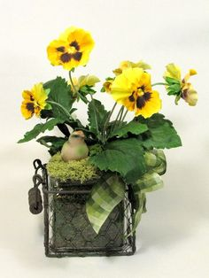 Spring Flower Arrangement by summersweetboutique on Etsy, $45.00