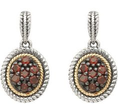 Take your look to the next level with these sterling dangle earrings. Garnet gemstones surrounded by a rope design make them something special. Garnet Jewelry, Garnet Earrings, Garnet Gemstone, Dangle Earrings, Pendant Necklace, Different Shades Of Red, My Birthstone, Stainless Steel Earrings, Dangles