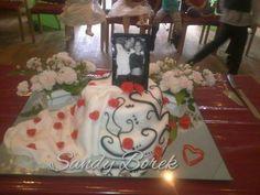 Hochzeitstorte Weddingcake Rosen Roses Fondant #weddingcake #hochzeitstorte