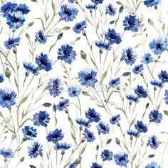 Blue flowers 9 — Stock Illustration #58105035
