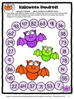 Halloween Math Games 2nd Grade: Halloween Activities with Spiders, Bats & Ghosts