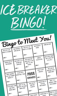 Here is a fun, free activity that is designed to get students mingling and finding out about one another. Using the sheet students will be able to ask interesting questions as they seek to find the perfect people to get them a bingo. Get To Know You Activities, First Day Activities, Back To School Activities, Classroom Activities, Leadership Activities, Group Activities, Icebreakers For Kids, 1st Day Of School, Beginning Of The School Year