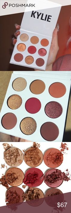 Kylie Burgundy Palette Serialized Authentic NEW Kylie Jenner Cosmetics Burgundy 9 Kyshadow Palette Kylie Jenner Cosmetics  AUTHENTIC kyshadow palette. Made in the USA This is authentic Kylie Jenner burgundy palette see back of palette for SERIAL NUMBER proving authenticity! Ships next week you may use your posh credits to purchase this item. Free gift w/ purch NO TRADESPRICE FIRM unless bundled w/ 2other items in my closet. Plz remember Posh keeps 20% of my sale and i paid shipping on this…