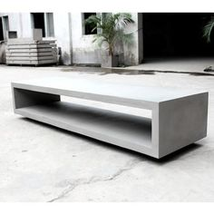 MONOBLOC - TV Bench designed by LYON BETON made in France as part of Furniture and Storage and Cabinets & Sideboards tagged Concrete furniture and Concrete Tables and Industrial Bedroom Furniture and Industrial Interior Design - image 6 on CROWDYHOSUE Concrete Table, Concrete Furniture, House Furniture, Furniture Design, Interior Design Images, Industrial Interior Design, Lyon, Industrial Bedroom Furniture, Industrial Chic Style
