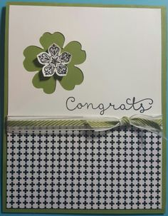 Cottage Greetings by Stampin' Up! Stamp Set. Cardstock: Old Olive, Whisper White & Stacked with Love Ink: Stayz On Black Ribbon:  Old Olive (Retired) CASE'd from  Punch: Pansie &  Petite Petals starlightstamper.com