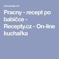 Pracny - recept po babičce - Recepty.cz - On-line kuchařka Line, Fishing Line