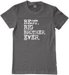 Threadrock Big Boys' Best Big Brother Ever Youth T-Shirt M Charcoal