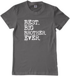 Threadrock Big Boys' Best Big Brother Ever Youth T-Shirt M Charcoal