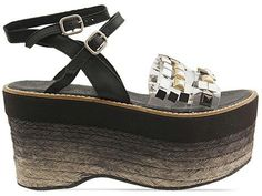 Mixture of my favs.  Platform and clear straps with studs