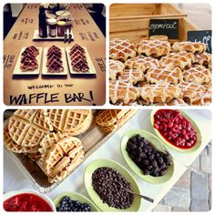 Waffle Bar! Christmas morning.