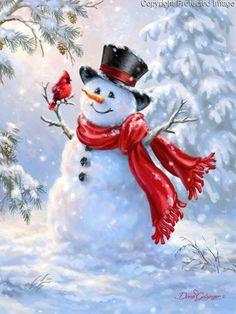 6 Gorgeous Santa and Snowman Diamond Painting Kits - I Love DIY Art Christmas Scenes, Christmas Pictures, Christmas Snowman, Winter Christmas, Christmas Crafts, Christmas Decorations, Christmas Ornaments, Christmas Quotes, Merry Christmas