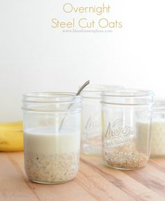 Overnight Steel Cut Oats - the cold cereal method, 3 ingredients and good for you!