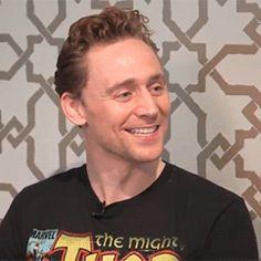 Adorable! ♥ Tom Hiddleston (gif)