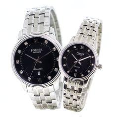 Black Luxury Quartz Couple Watch