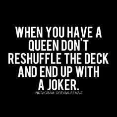 Don't reshuffle the deck                                                                                                                                                                                 More