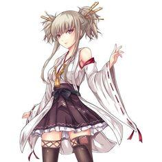 Anime picture aoki hagane no arpeggio kongou (aoki hagane no arpeggio)... ❤ liked on Polyvore featuring filler