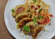 Vegan Magic Time: Quinoa/Lentil Dumplings with Braised Cabbage Glass...