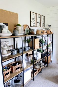 wood DIY Kitchen Ikea Hacks is part of Custom shelving - Welcome to Office Furniture, in this moment I'm going to teach you about wood DIY Kitchen Ikea Hacks Rustic Shelving Unit, Custom Shelving, Industrial Shelving, Shelving Units, Diy Shelving, Open Shelving, Ikea Regal, Diy Regal, Diy Pipe Shelves