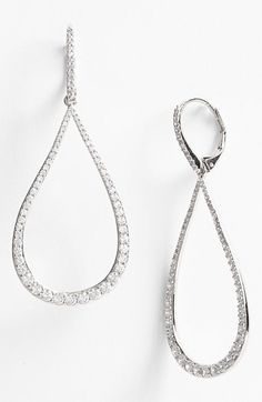 Free shipping and returns on Nadri Open Teardrop Earrings at Nordstrom.com. Slender trails of pavé crystals illuminate hand-polished drop earrings
