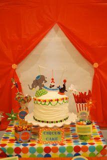 Circus theme baby shower